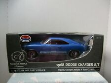 1/18 SCALE AMERICAN MUSCLE AUTHENTICS BLUE 1968 DODGE CHARGER R/T