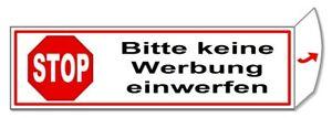 Bitte keine Werbung einwerfen-Briefkasten-Schild-70x20 mm-Türschild-Folienschild