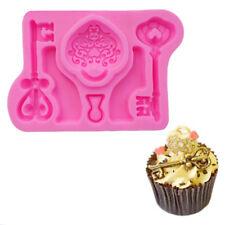 Love Lock Key Silicone Mold Sugarcraft Fondant Cake Chocolate Decor Mould Tools