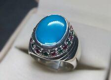 Natural Rare Neshapuri Turquoise Sterling Silver 925 Handmade Feroza Women Ring