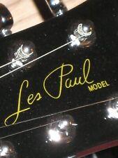 Gibson Les Paul Guitar Die-Cut Decal Sticker OEM, Metal Flake Gold Luthier