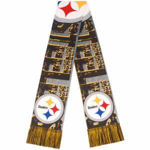 Pittsburgh Steelers Scarf - Printed Big Logo- Winter Neck Double Sided Team Logo