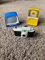 Lot Of 3 Vintage Slideshow Viewers TV, Camera, Freudenstad, Muchen, Platiskop !!
