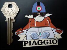 PIAGGIO Cafe Racer Pudding Basin Helmet SCOOTER STICKER Mod Vespa Moped Classic