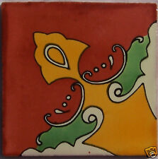 C219) 9 PCS Talavera Tiles 4x4 Ceramic Mexican Handpainted