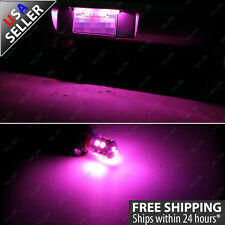 1 pair License Plate Tag 10-SMD Pink LED Light Bulbs T10 Wedge 192 164 2825
