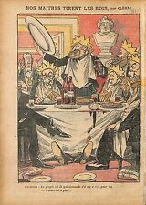 Caricature Antiparlementaire Députés Franc-Maçons Galette des 1911 ILLUSTRATION