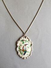 Halskette Halsreif Collier Perlen Porzellan mehrfarbig  bunt multicolor 303f