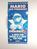 Mario Party 5 Nintendo Power Magazine Poster Mario For President 11 x 23 GC