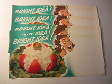 Wholesale Lot of 10 Old Vintage 1950's Tomato Cottage Cheese Grocery STORE SIGNS