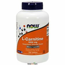 NEW NOW Foods L Carnitine Tartrate 1000mg 100 Tablets FREE SHIPPING energy