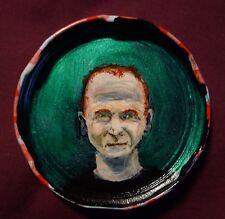 JIM CRACE Jam Jar Lid Portrait, Literary, New Orleans Outsider Art by PETER ORR