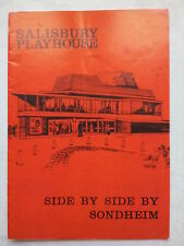 SIDE BY SIDE.SALISBURY PLAYHOUSE PROGRAMME 9-8-79.ANITA DOBSON.V MELDRUM.R FROST