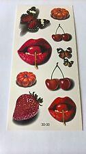 2 X Body Art-Fruit & LIPS-Impermeabile-TATUAGGI TEMPORANEI 3D-33 - GRATIS