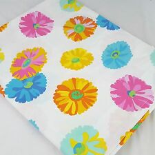VTG Westpoint Stevens Colorful Daisy Full Top Sheet 50/50 Fabric Crafting Sewing