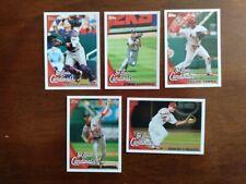 5 Card Lot of 2010 Topps St. Louis Cardinals Baseball Cards, Yadier Molina