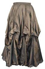 Dark Star Bronze Gothic Victorian Steampunk Ruched Floaty Skirt Freesize 10-18
