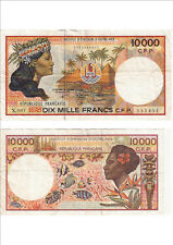 Billet banque FRENCH PACIFIC TAHITI POLYNESIE OUTRE-MER 10000 F X.001 451