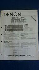 DENON servicemanual UTU-110 UPA-110 UDR-110 UDR-110