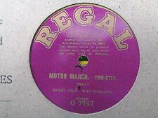 BANJO SOLO - Motor March / SAXOPHONE SOLO - Rocked... 78 rpm disc (A++)