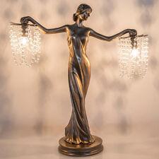 "23.75"" GRECIAN GODDESS BEADED TABLE LAMP #15275 VINTAGE DECOR"