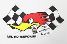 Clay Smith Cams Checkered Flag Sticker Decal Large Left Mr Horsepower Vintage