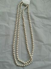 White long Pearl Necklace 1920s Gatsby Flapper Costume Gangster Beads