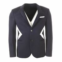 NEIL BARRETT Jacket Navy Slim Fit Size 50 AP 110
