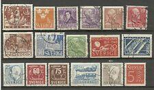 Sweden used lot 1938-57