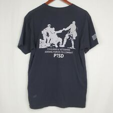 Operation Compassionate Care Mens Tshirt L Black Graphic Tee Shirt PTSD Verteran