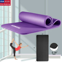 10MM Extra Thick Yoga Mat Fitness Pilates Gym Non Slip NBR Exercise W/ Bag Strap