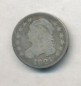 1821 Capped Bust Silver Dime Exact Coin Shown