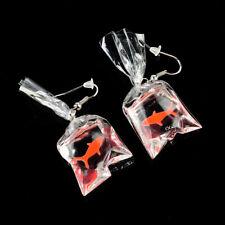 Kawaii Cartoon Resin Goldfish Imitation Water Bag Shape Fashion Charms Earrings