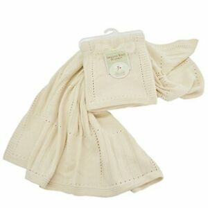 """American Baby Company 100% Organic Cotton Sweater Knit Baby Blanket 30 x 40"""""""