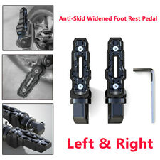 2X Motorcycle Parts Rear Anti-Skid Widened Foot Rest Pedal Motorbike Accessories