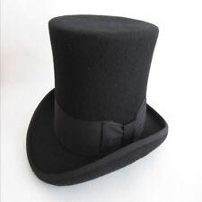 d6902a3bfe5 New Genuine Vintage Wool Top Hat Cap Mat Hatter Party Magician Gentleman UK