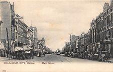 OK - RARE! 1900's Main Street in Downtown at Oklahoma City, Okla.