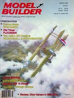 Model Builder Magazine March 1987 Peanut Gym Dandy Flounder Am 10 Diesel m994