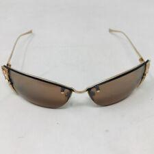 Loree Rodkin Metal Marrón Oro Signo de la paz Cher Gafas de sol 2400-635-3820