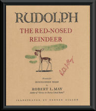 Rudolph The Red-Nosed Reindeer & Autograph Reprint On 70 Year Old Paper P178