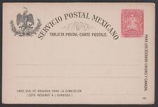 Mexico, 1897. Postkarte H & G 88, Postfrisch