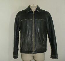 Mens EDDIE BAUER DISTRESSED Leather classic Bomber Biker Motorcycle Jacket M