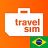 TravelSim Welt Daten Prepaid Sim-Karte für Brasilien mit 2 GB/ für 30 Tage