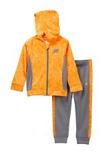 New Balance Attached Hooded Jacket Set (Boys) Long raglan sleeves Size 7, NWT