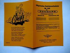 abe Zündapp  Betriebserlaubnis Blanko COMBIMOT Motor Fahrradhilfsmotor KM50 MOFA