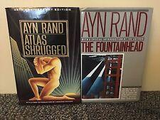 Ayn Rand Atlas Shrugged (35th Anniversary) And Fountainhead, HC/DJ