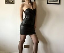 Leather Bustier Strapless Dress