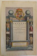 """Frontispice Blaeu """"Théâtre du monde ou nouvel atlas"""" vers 1647"""