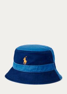 Polo Ralph Lauren Men's Color-Blocked Chino Bucket Hat Blue Size Large L / XL