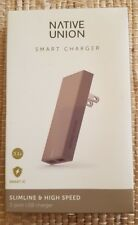 Native Union 2-Port USB Port Smart Charger Taupe New Sealed